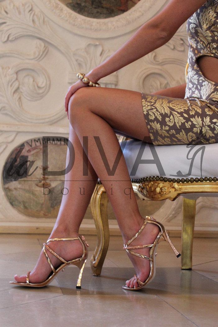 Italy Mit Venturini Gold Sandaletten Alberto Lack Leder ~ Strass 1lJFKc