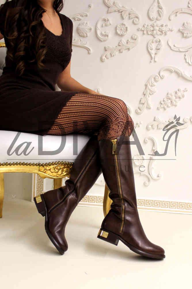 Deko Napoleoni Leder Stiefel Mit Goldenem ~ Italy Boots jLq4S35AcR